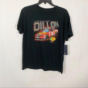NWT Fanatics Ty Dillon Black Racing Shirt Sz Large
